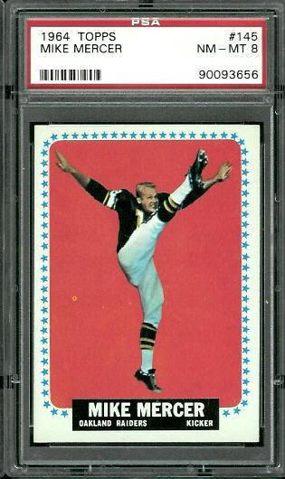 1964 Topps #145 - Mike Mercer - PSA 8