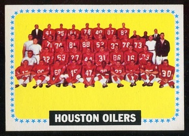 1964 Topps #88 - Houston Oilers Team - nm
