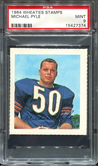 1964 Wheaties Stamps #54 - Mike Pyle - PSA 9