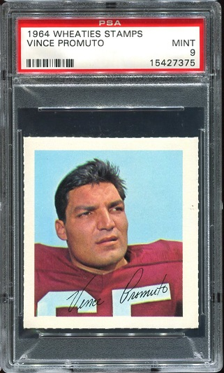 1964 Wheaties Stamps #53 - Vince Promuto - PSA 9