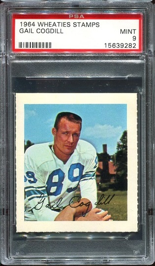 1964 Wheaties Stamps #14 - Gail Cogdill - PSA 9