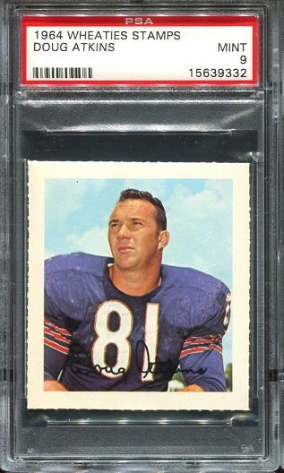 1964 Wheaties Stamps #3 - Doug Atkins - PSA 9