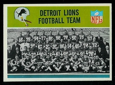1965 Philadelphia #57 - Detroit Lions Team - exmt