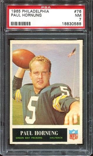 1965 Philadelphia #76 - Paul Hornung - PSA 7