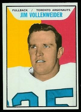 1965 Topps CFL #116 - Jim Vollenweider - nm