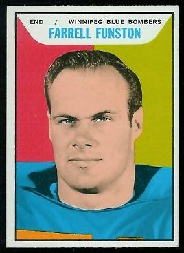 1965 Topps CFL #119 - Farrell Funston - nm