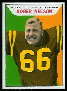 1965 Topps CFL #39 - Roger Nelson - nm