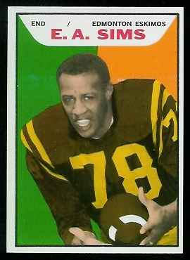 1965 Topps CFL #41 - E.A. Sims - nm+