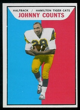 1965 Topps CFL #49 - Johnny Counts - nm