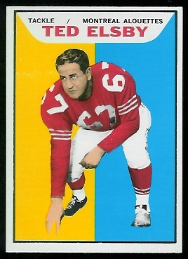 1965 Topps CFL #65 - Ted Elsby - nm