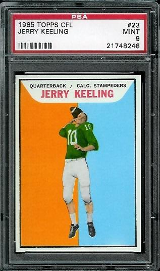 1965 Topps CFL #23 - Jerry Keeling - PSA 9