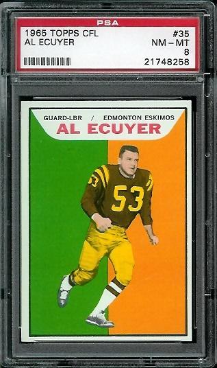1965 Topps CFL #35 - Al Ecuyer - PSA 8
