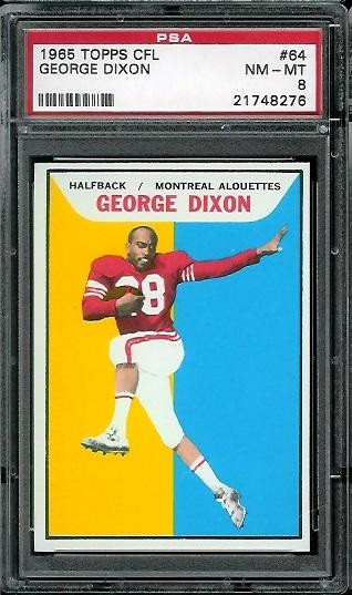 1965 Topps CFL #64 - George Dixon - PSA 8