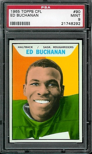 1965 Topps CFL #90 - Ed Buchanan - PSA 9