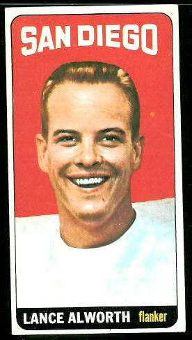 1965 Topps #155 - Lance Alworth - vg