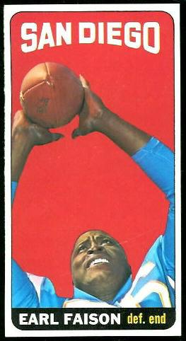 1965 Topps #158 - Earl Faison - exmt