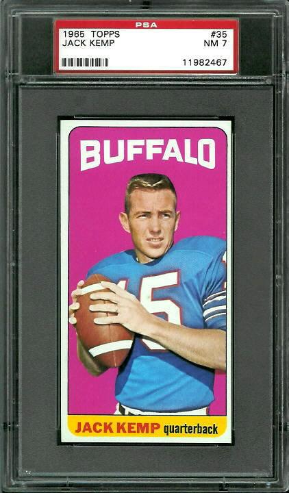 1965 Topps #35 - Jack Kemp - PSA 7