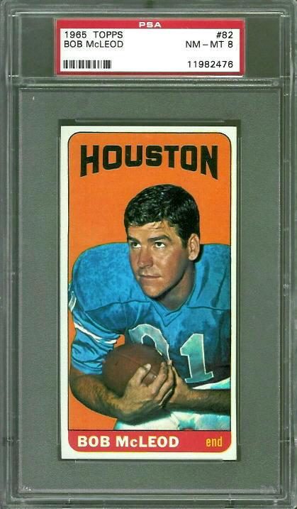 1965 Topps #82 - Bob McLeod - PSA 8