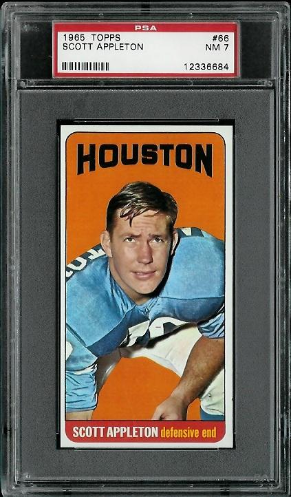 1965 Topps #66 - Scott Appleton - PSA 7