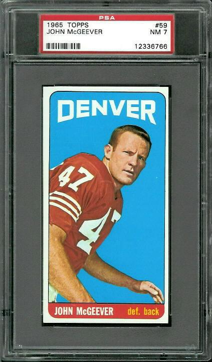 1965 Topps #59 - John McGeever - PSA 7