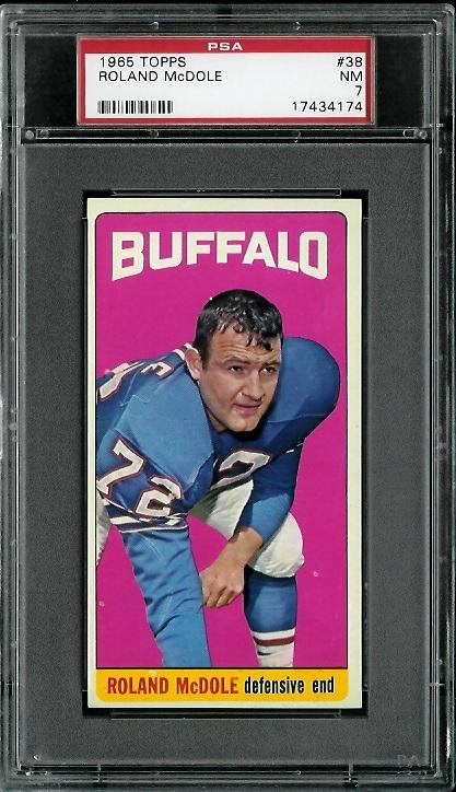 1965 Topps #38 - Ron McDole - PSA 7