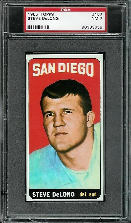 1965 Topps #157 - Steve DeLong - PSA 7