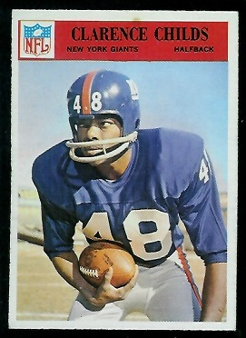 1966 Philadelphia #121 - Clarence Childs - exmt