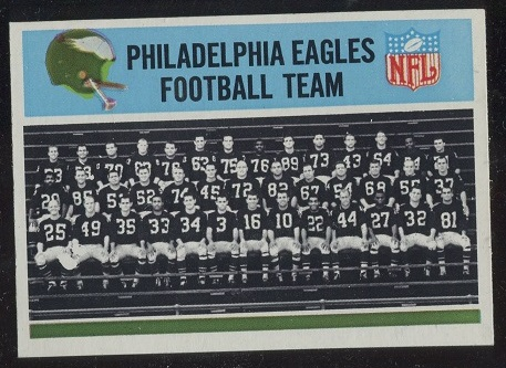 1966 Philadelphia #131 - Philadelphia Eagles Team - nm