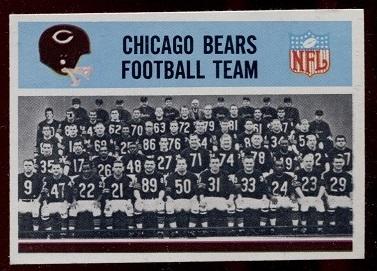 1966 Philadelphia #27 - Chicago Bears Team - nm