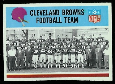 1966 Philadelphia #40 - Cleveland Browns Team - exmt