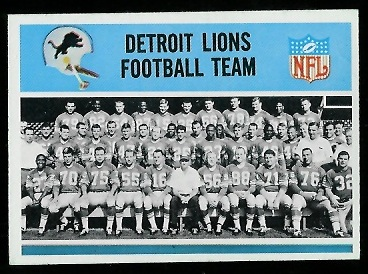 1966 Philadelphia #66 - Detroit Lions Team - exmt