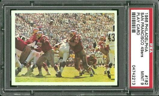 1966 Philadelphia #182 - 49ers Play - PSA 9