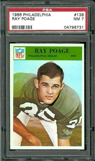 1966 Philadelphia #138 - Ray Poage - PSA 7