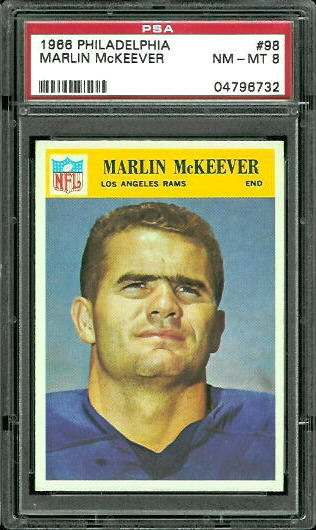 1966 Philadelphia #98 - Marlin McKeever - PSA 8