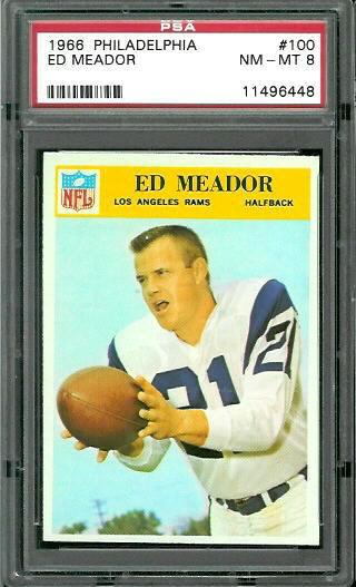 1966 Philadelphia #100 - Ed Meador - PSA 8