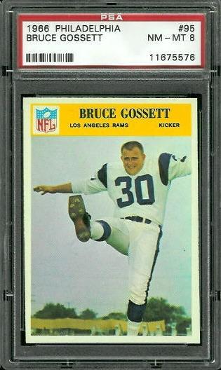 1966 Philadelphia #95 - Bruce Gossett - PSA 8