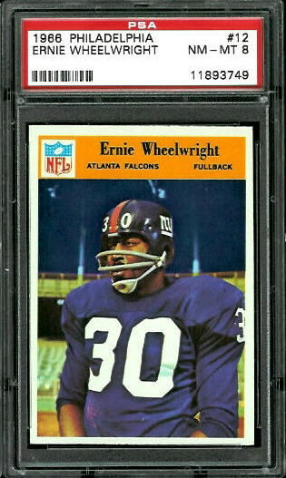 1966 Philadelphia #12 - Ernie Wheelwright - PSA 8