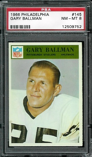 1966 Philadelphia #145 - Gary Ballman - PSA 8