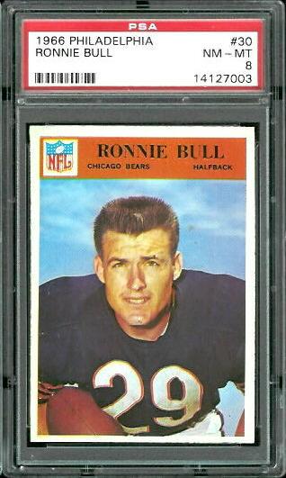 1966 Philadelphia #30 - Ron Bull - PSA 8
