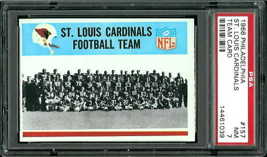 1966 Philadelphia #157 - St. Louis Cardinals Team - PSA 7