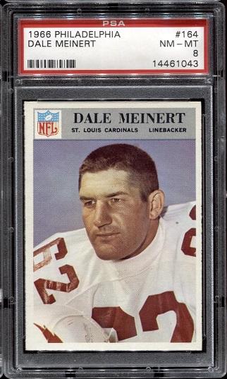 1966 Philadelphia #164 - Dale Meinert - PSA 8