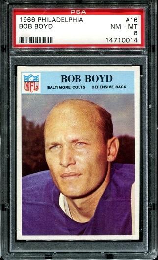 1966 Philadelphia #16 - Bob Boyd - PSA 8