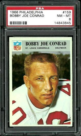 1966 Philadelphia #159 - Bobby Joe Conrad - PSA 8