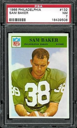 1966 Philadelphia #132 - Sam Baker - PSA 7