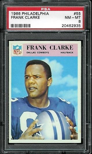 1966 Philadelphia #55 - Frank Clarke - PSA 8