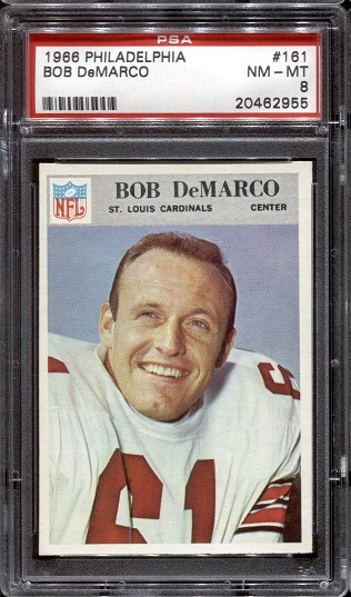 1966 Philadelphia #161 - Bob DeMarco - PSA 8