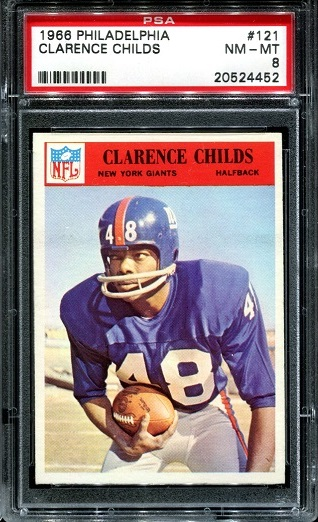 1966 Philadelphia #121 - Clarence Childs - PSA 8