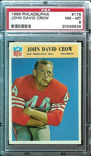 1966 Philadelphia #175 - John David Crow - PSA 8