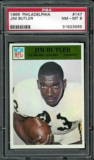 1966 Philadelphia #147 - Jim Butler - PSA 8