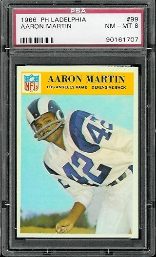 1966 Philadelphia #99 - Aaron Martin - PSA 8